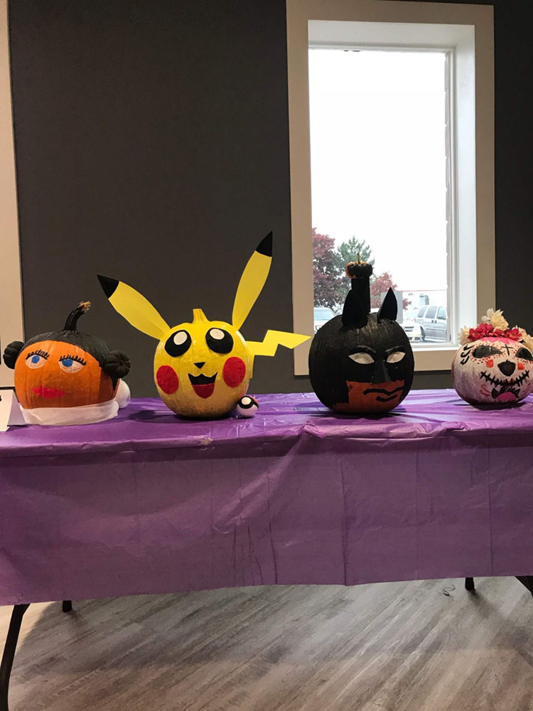 Photos from the Pumpkin Painting